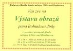 výstava obrazů Bohuslava Jirky